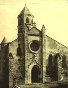 Photo of the church of Aubin at the beginning of the XXth